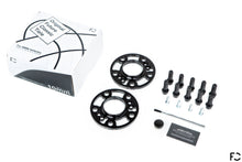 Load image into Gallery viewer, Everything included in the Future Classic wheel spacer set for BMW models: wheel spacer pair, lug bolts, hub bolts, applicator brush, Copaslip copper anti-seize