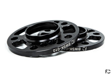Load image into Gallery viewer, Future Classic BMW black anodized aluminum wheel spacer pair showcasing machine work and impeccable finishing
