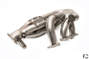 Dundon Motorsports - 981 Cayman GT4 / Spyder Race Header Set: Single Bank Side View