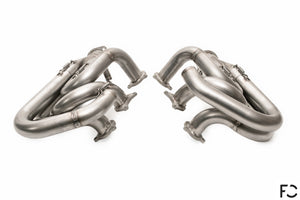Dundon Motorsports - 981 Cayman GT4 / Spyder Race Header Set: Rear View