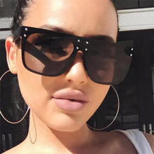Load image into Gallery viewer, Oversized Flat Top Sunglasses