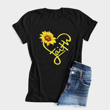 Load image into Gallery viewer, Faith Sunflower Heart T-Shirt