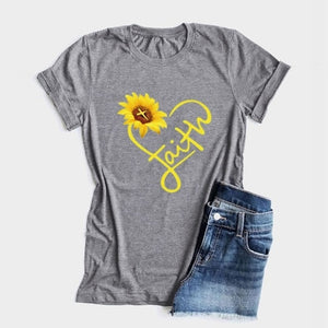 Faith Sunflower Heart T-Shirt
