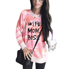 Load image into Gallery viewer, Camouflage Wife Mom Boss Sweatshirt