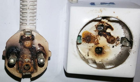 Burned out sockets