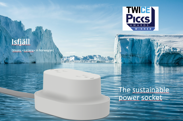 Isfjäll (US) - the iceberg power socket for sustainable charging of home electronics