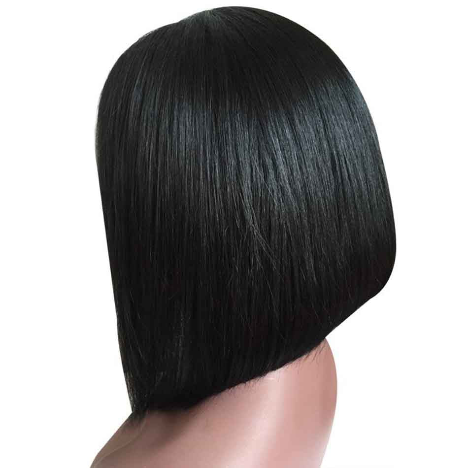 soft and thick human hair bob wigs for black women