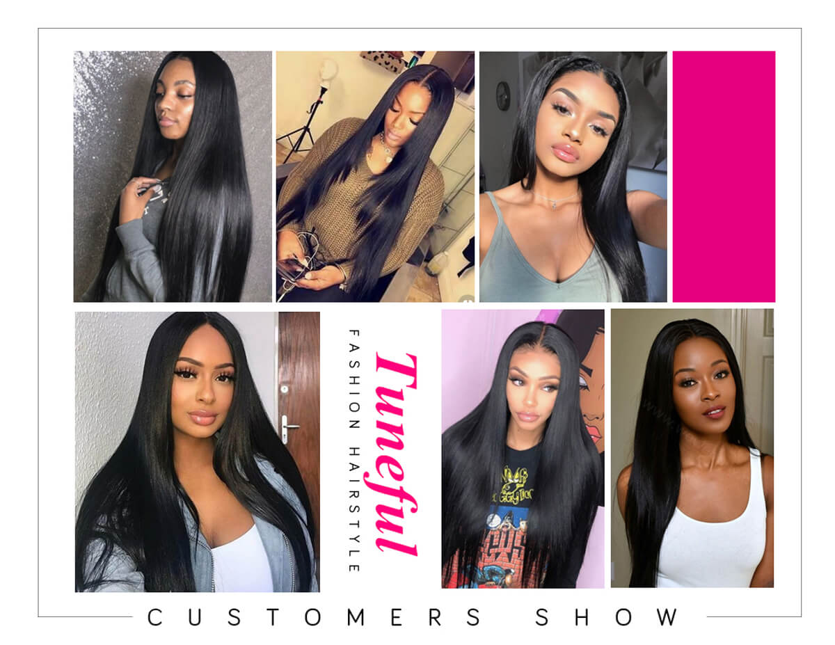 Tuneful Straight Wig Human Hair 360 Lace Front Wig