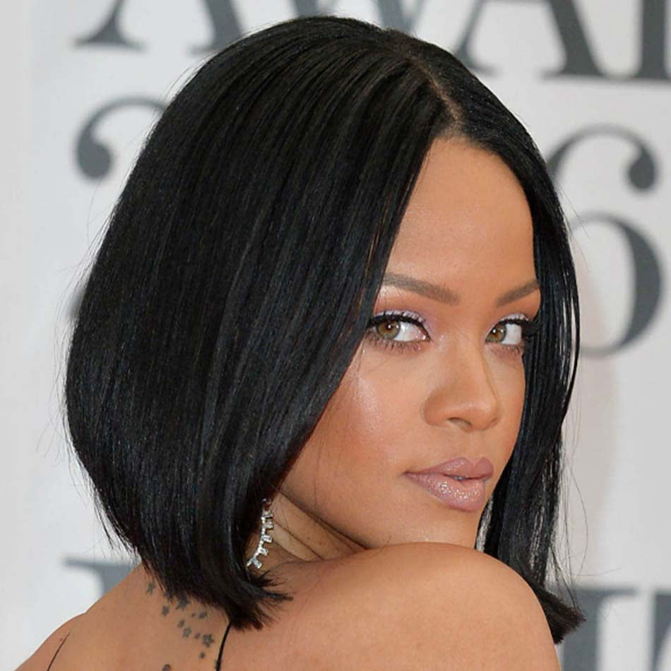 a line bob wig for black women straight short human hair wigs