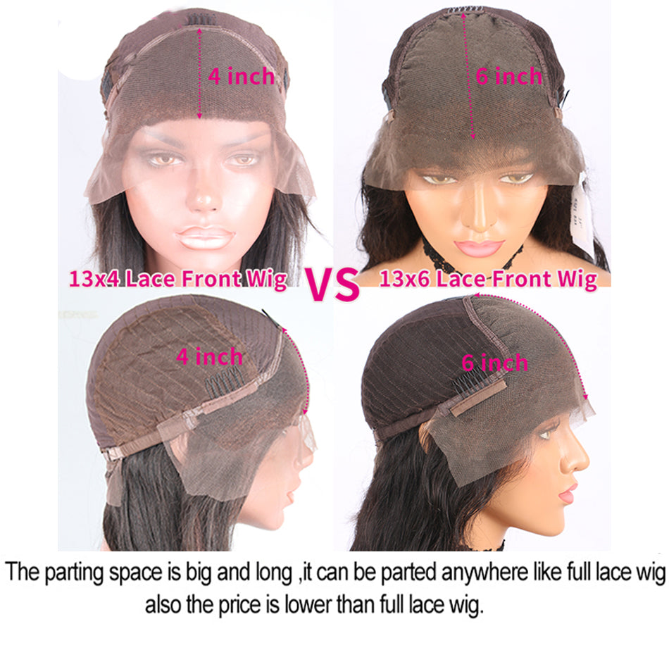 13x6 Lace Front Human Hair WigsRemy Human Hair Wig Lace Frontal Wigs For Women