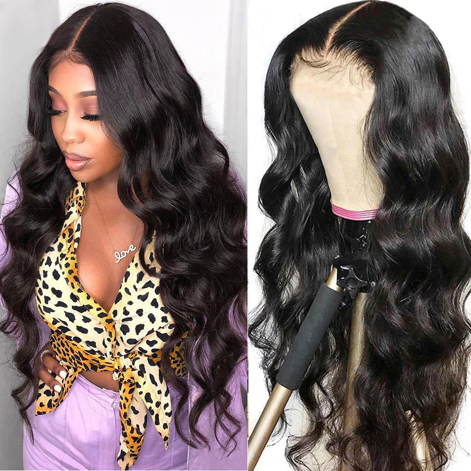 150%Density Raw Indian Remy Human Hair Wig Lace Frontal Wigs For Women