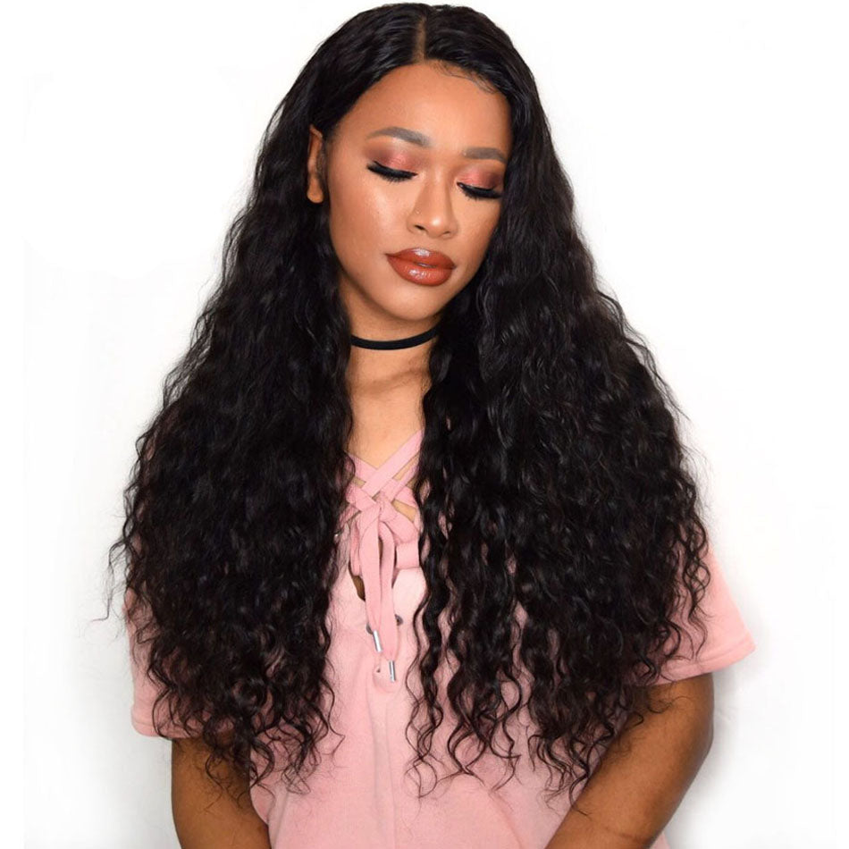 13x4 Tuneful 150% 180% Density Brazilian Remy Human Hair Wig Lace Frontal Wigs