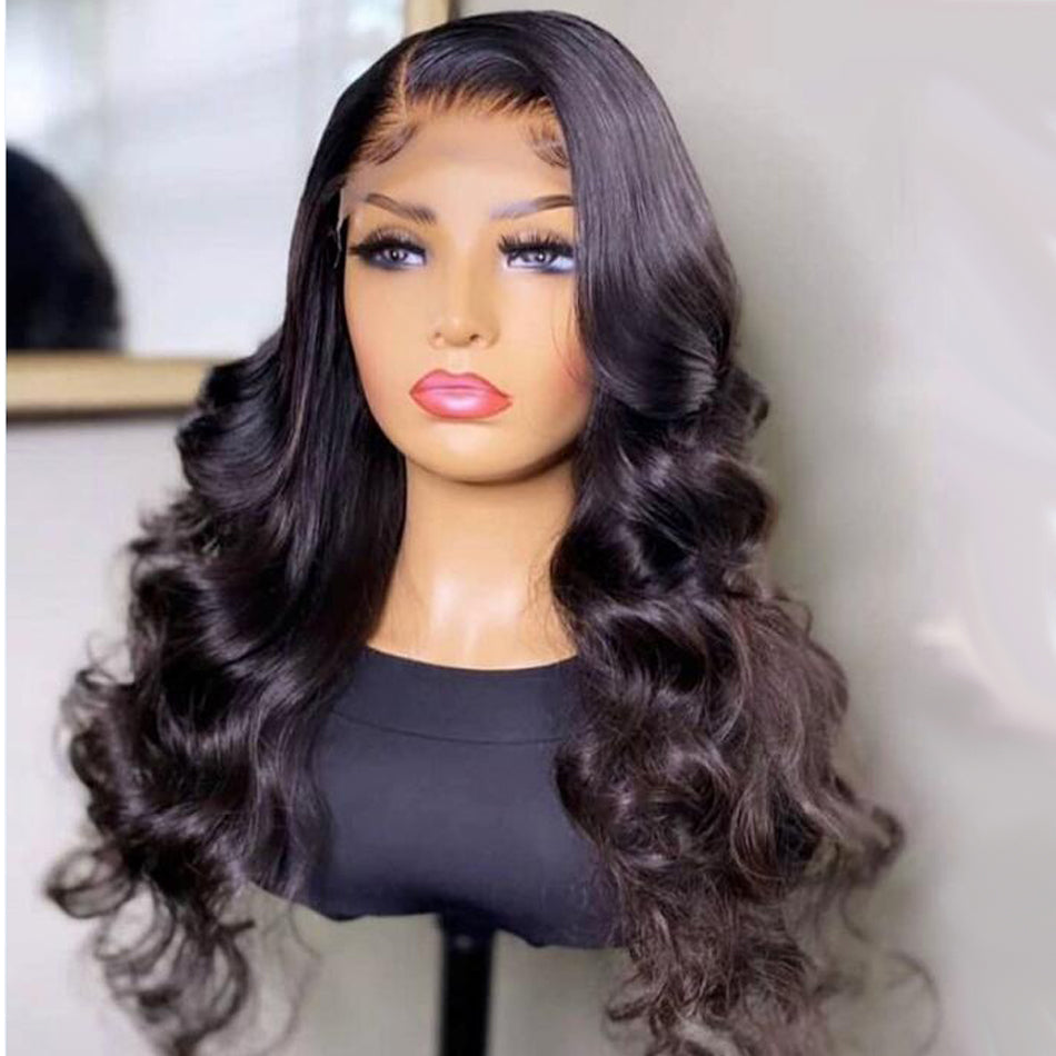13x4 Lace Front Human Hair Wigs Body Wave Pre Plucked  150% 180% Density  Brazilian Remy Human Hair Wig