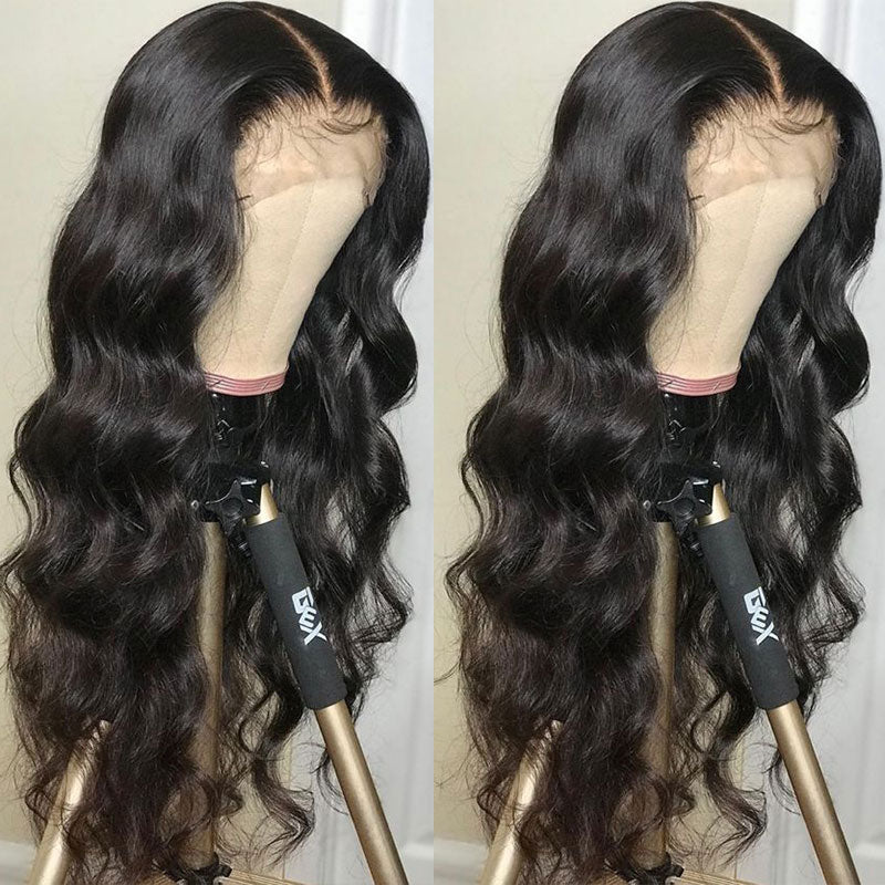 Body Wave Pre Plucked With Baby Hair Tuneful 150%Density Raw Indian Remy Human Hair Wig
