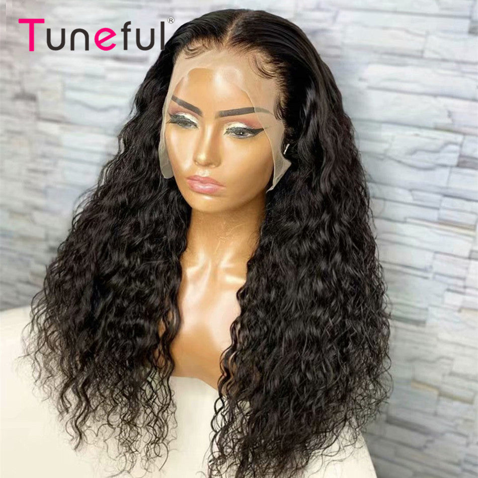 13x6 Lace Front Human Hair Wigs Water Wave Pre Plucked With Baby Hair Lace Frontal Wigs For Women