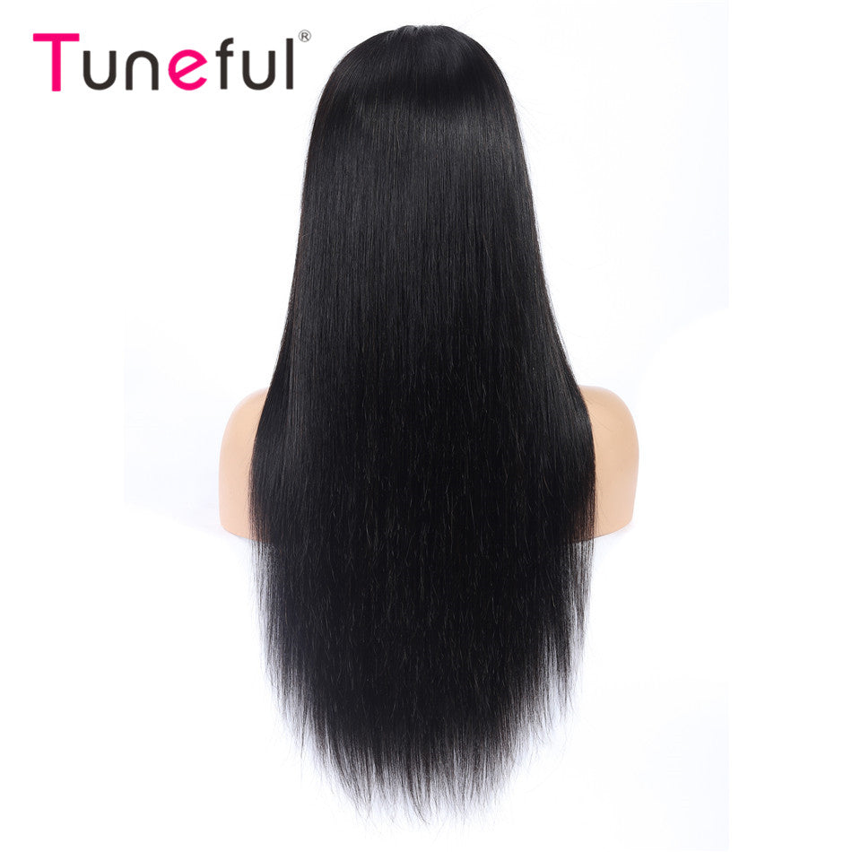 13x4 Lace Front Human Hair Wigs Straight Pre Plucked Tuneful