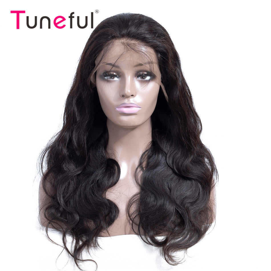 Body Wave Pre Plucked  150% 180% Density  Brazilian Remy Human Hair Wig Lace Frontal Wigs For Women