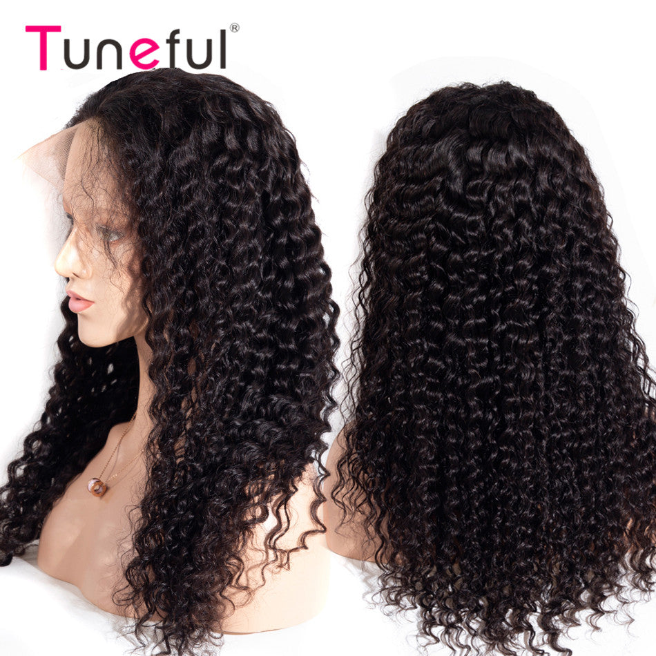 13x4 Lace Front Wigs Tuneful Deep Wave Pre Plucked 150% 180% Brazilian Remy Human Hair Wigs for Women