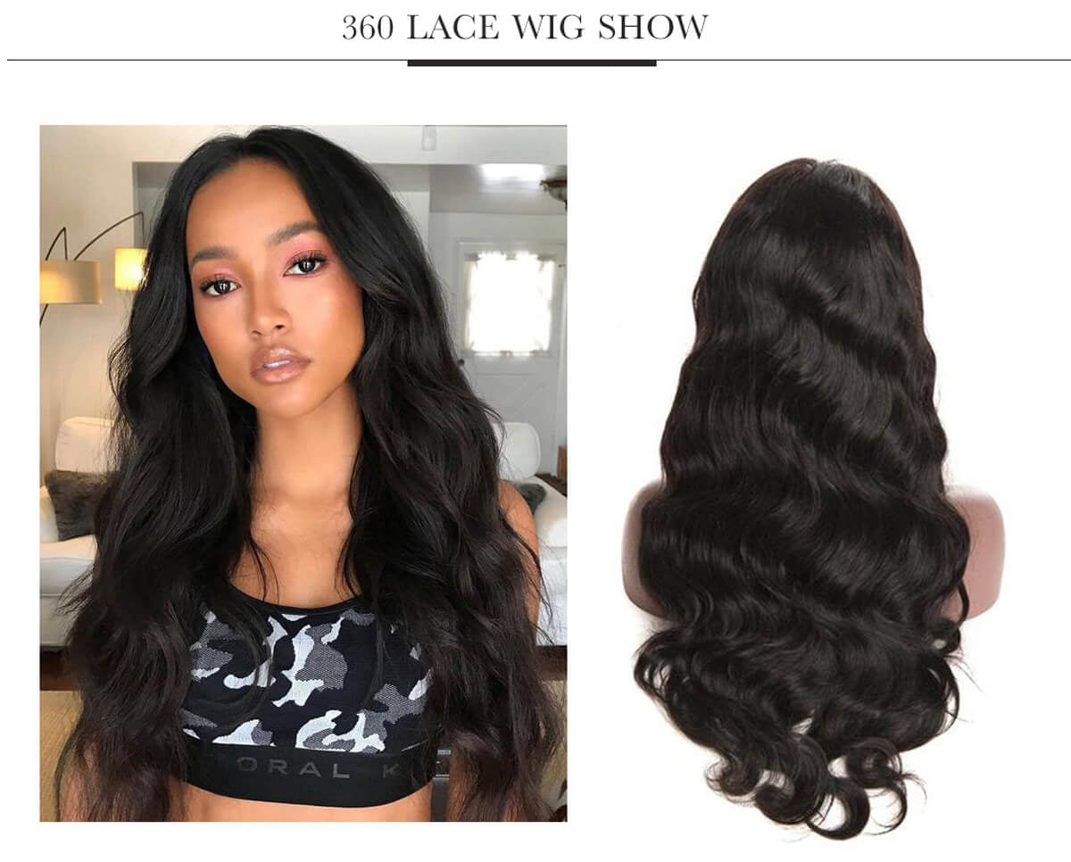 Tuneful Hair Wig 100% Human Hair Wig 360 Lace Front Wig Body Wave
