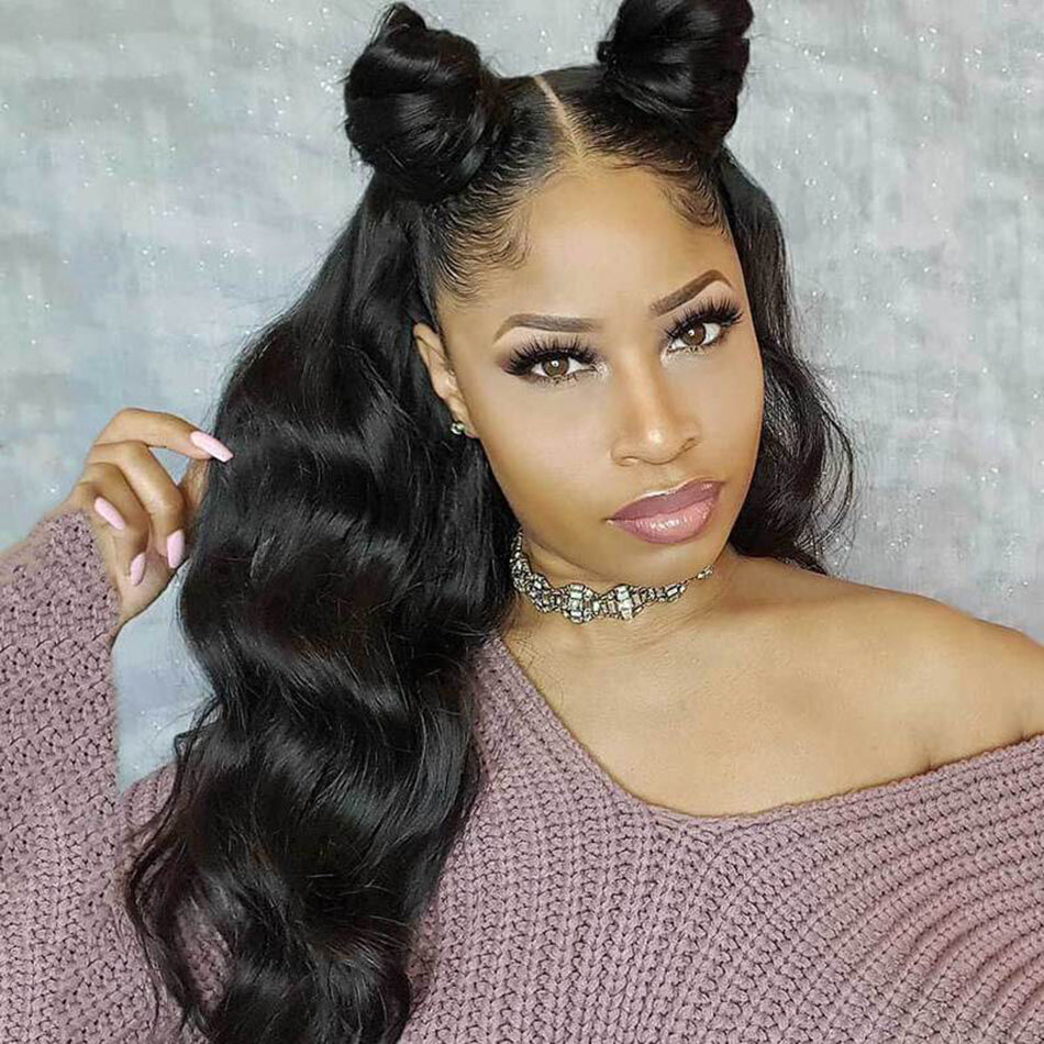 360 Lace Frontal Human Hair Wigs Body Wave Pre Plucked With Baby Hair