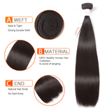 Tuneful Malaysian Straight 4 Bundles Remy Human Hair 100% Hair Weave Extensions Hair Weft Weave