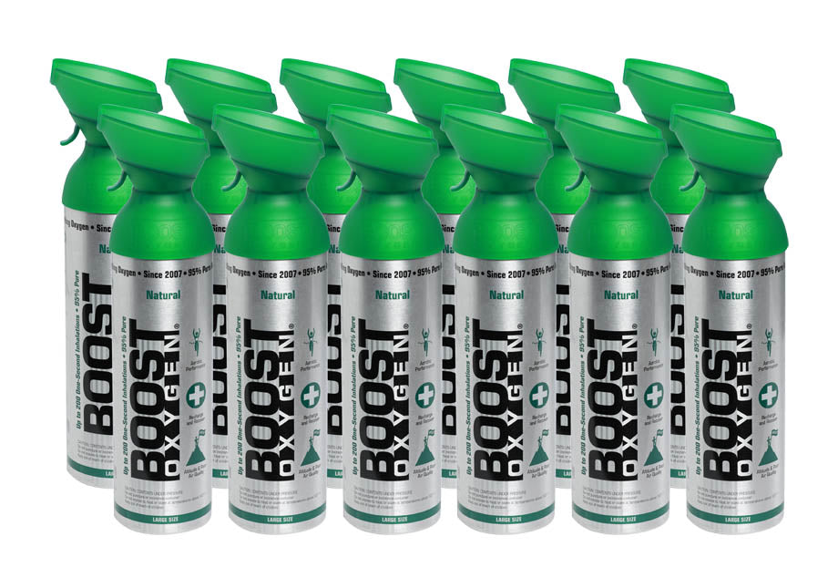 Boost Oxygen Natural 200 Breath (Large Size) - 12 Pack with Free Postage
