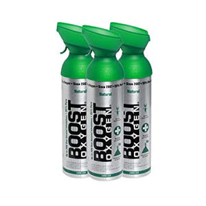 Boost Oxygen Natural 200 Breath (Large Size) - 3 Pack with Free Hand Sanitiser!