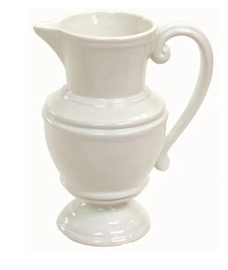 WHITE PITCHER SMALL