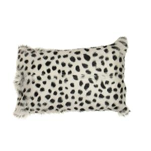 Leopard Grey Goat Fur Cushion