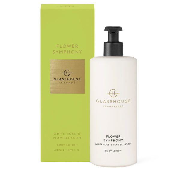 Flower Symphony, White Rose & Pear Blossom 400ml body lotion