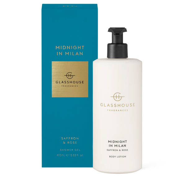 Midnight In Milan, Saffron & Rose 400ml body lotion