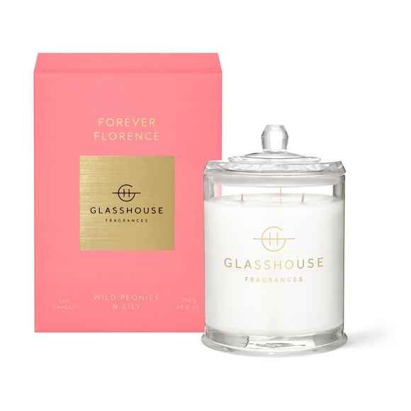 Forever Florence Wild Peonies and Lily 760g Candle