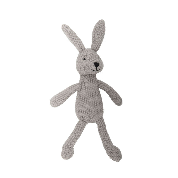 Wild Ones Grey Knitted Bunny by Lily and George