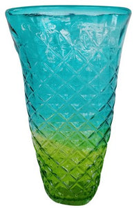 Small Blue Green Vase