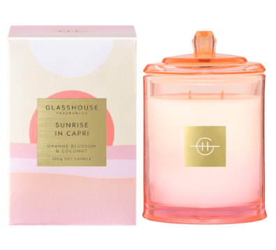 Limited Edition Sunrise in Capri 380G Glasshouse Candle
