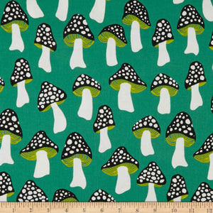 Mushrooms green, Front Yard kollektion, Cotton & Steel