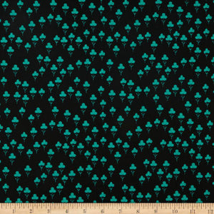 Clovers teal, Front Yard kollektion, Cotton & Steel