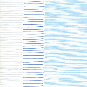 Fire Lines i white & blue fra kollektionen Breeze af ZEN CHIC for moda