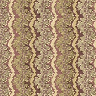 Windermere Lace i farven plum af Di Ford for Andover Fabrics