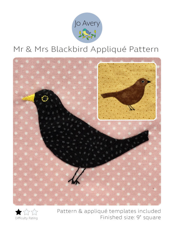 Mr. & Mrs. Blackbird Applique af Jo Avery