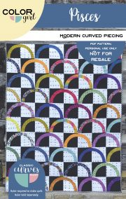 Pisces quilt - modern curved piecing af colorgirlquilts
