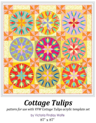 Cottage Tulips Quilt , mønster af Victoria Findley Wolfe