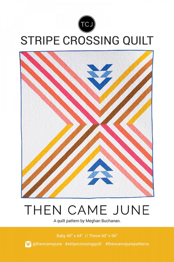 Stripe Crossing Quilt af Then Came June
