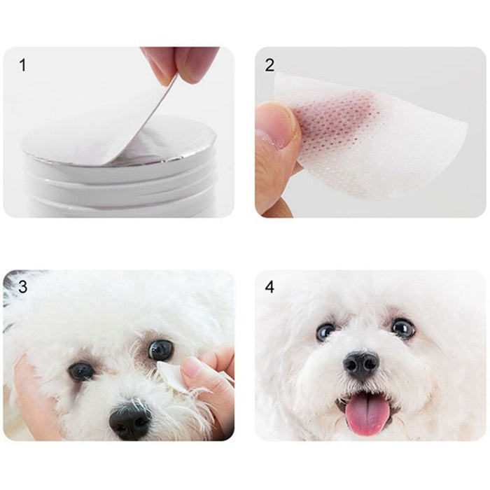 Tear Stain Remover For Dogs & Cats - 100 Wipes