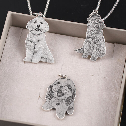 PERSONALIZED PET PHOTO STERLING SILVER NECKLACE