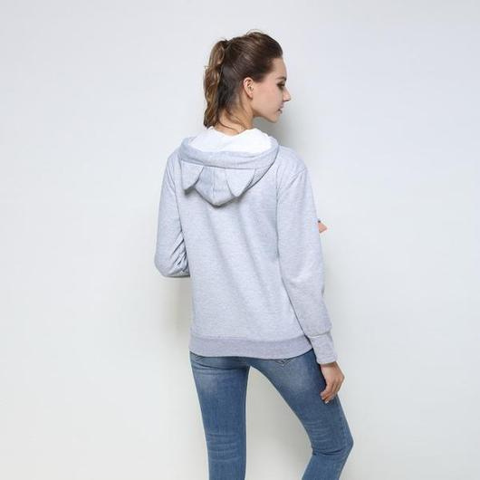 Cozy Cat Hoodie With Kangaroo Pouch