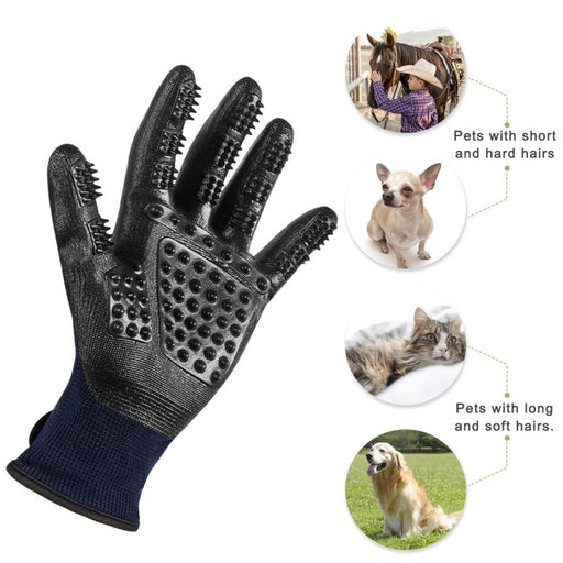 PetCaveCo® 1 Pair Pet Brush Grooming Gloves Massage