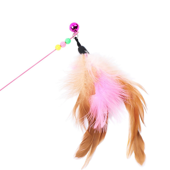 PetCaveCo Flex Feather Teaser Wand