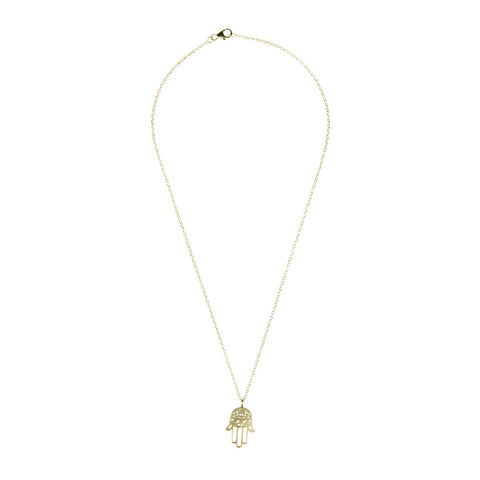 Image of Cosmic Hamsa Necklace Women - Jewelry Necklaces