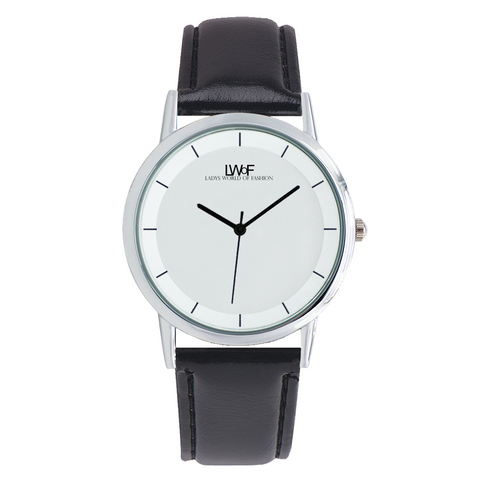 Image of Lwof Ladys World Of Fashion Double Layer Concise Dial Water-Resistance Quartz Watch Woman - Diameter